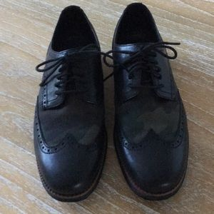 Cole Haan Men's Shortwing Camo Black Oxfords
